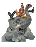 Circus Elephant with a cold or allergies. Funny illustration of Circus Elephant with a cold or allergies Stock Photo