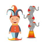 Circus entertainment design. Illustration eps10 graphic Royalty Free Stock Images