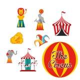 Circus entertainment design. Illustration eps10 graphic Royalty Free Stock Photo