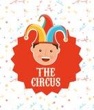 Circus entertainment design. Illustration eps10 graphic Stock Images