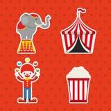 Circus entertainment design. Illustration eps10 graphic Royalty Free Stock Photos