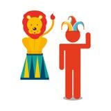 Circus entertainment design. Illustration eps10 graphic Royalty Free Stock Image