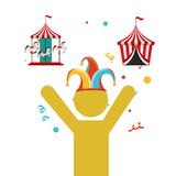 Circus entertainment design. Illustration eps10 graphic Royalty Free Stock Photos