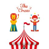 Circus entertainment design. Illustration eps10 graphic Royalty Free Stock Photography