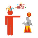 Circus entertainment design. Illustration eps10 graphic Royalty Free Stock Image