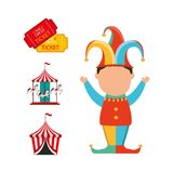 Circus entertainment design. Illustration eps10 graphic Royalty Free Stock Photo