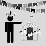 Circus entertainment design. Illustration eps10 graphic Stock Photo