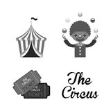 Circus entertainment design. Illustration eps10 graphic Stock Photography
