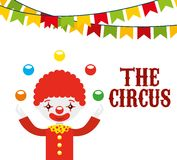 Circus entertainment design. Illustration eps10 graphic Stock Images