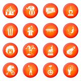Circus entertainment icons vector set Royalty Free Stock Photos