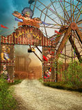 Circus entrance. Colorful entrance gate to fantasy circus Royalty Free Stock Photo