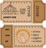 Circus entrance vector tickets templates. Doodle style. Stock Photo