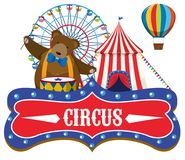 Circus fair theme concept Royalty Free Stock Images