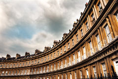 The Circus, famous circular Royal Crescent building in Bath, Somerset, England. Royalty Free Stock Photo