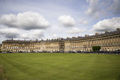 The Circus, famous circular Royal Crescent building in Bath Royalty Free Stock Photo