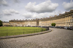 The Circus, famous circular Royal Crescent building in Bath Royalty Free Stock Images