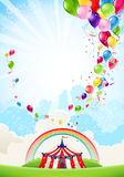 Circus festive background stock illustration