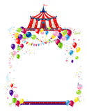 Circus festive card Royalty Free Stock Images
