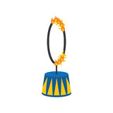 Circus fire hoop Stock Images