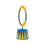 Circus fire hoop Royalty Free Stock Image
