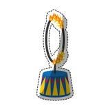Circus fire hoop Stock Photography