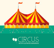 Circus flat background concept. vector Royalty Free Stock Photo