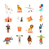 Circus flat icons Stock Images