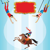 Circus Flying Trapeze Birthday Party Invitation Stock Images