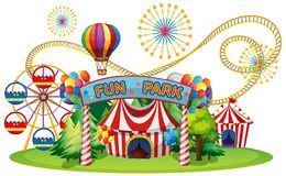 A Circus and Fun Fair. Illustration vector illustration