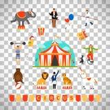 Circus and fun fair elements stock illustration