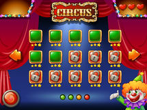 A circus game. A circus computer game on screen Stock Images