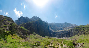 Circus of Gavarnie in French Haute Pyrenees Mountains Royalty Free Stock Photos