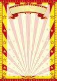 Circus gestripte affiche Royalty-vrije Stock Foto's