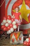The circus girl Stock Images