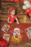 The circus girl Stock Image