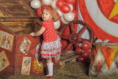 The circus girl Stock Photo