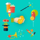 Circus. Going to the circus. Set of icons. royalty free illustration
