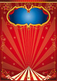 Circus gold party. A red circus background for a poster Stock Photos