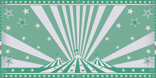 Circus green invitation Stock Photography