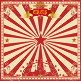 Circus grunge greeting card stock photos