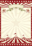 Circus grunge red poster Stock Photo