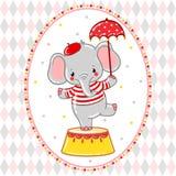Circus happy birthday card design. Stock Photos