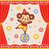 Circus happy birthday card design. Stock Image