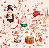 Circus hares Royalty Free Stock Image