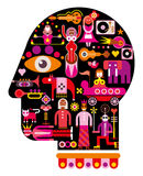 Circus Head - vector illustration Royalty Free Stock Photography