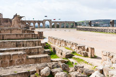 Circus hippodrome in Jerash Royalty Free Stock Photos