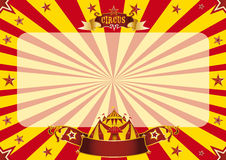 Circus horizontal red and yellow Royalty Free Stock Photography