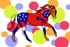The circus horse 1 (children's illustration) Stock Photography
