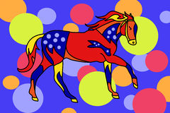 The circus horse (children's illustration) Royalty Free Stock Photography