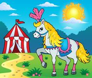 Circus horse theme image 3. Vector illustration Royalty Free Stock Images